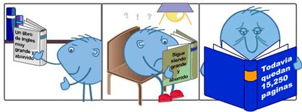 Para poder conversar, nuestros alumnos no malgastan tiempo leyendo libros de gramática aburridos.